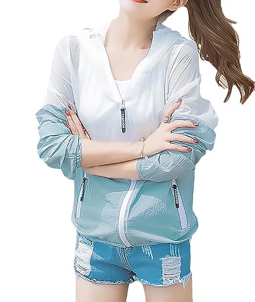 Abrigo Mujer Elegantes Verano Moda Joven Fino Respirable Beach Corto Abrigos Proteccion Casuales Mujeres Solar Splice Manga Larga Vintage Outerwear con ...
