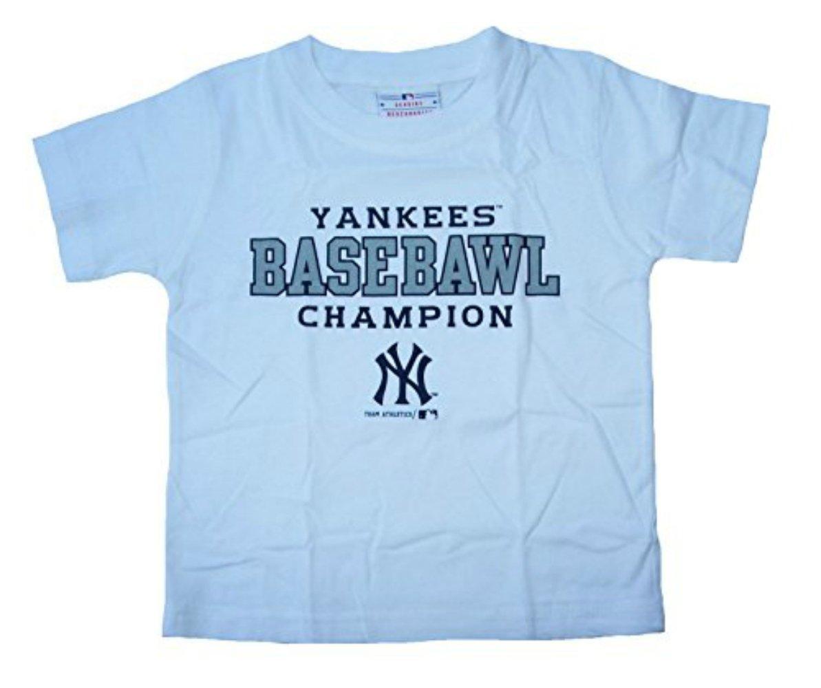 New B0731MWSLB York Toddler Yankees Basebawl Champion Infant Size Toddler Size 2T Short Sleeve Shirt - Kids White B0731MWSLB, 大和まほろば いざさ茶屋:75eee44a --- mail.tastykhabar.com