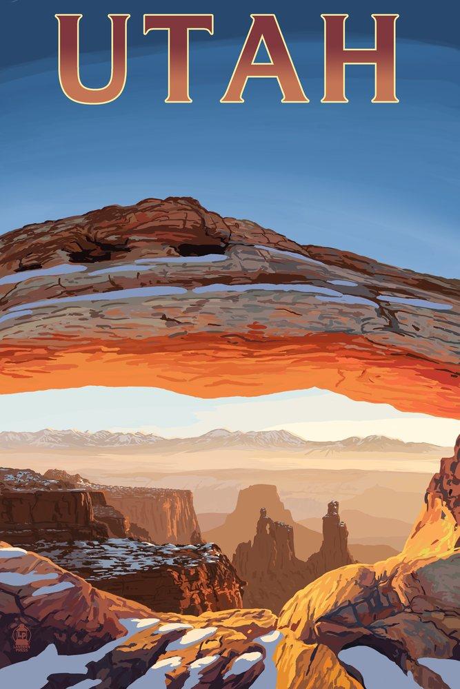 ユタ州 – Canyonlandsビュー 36 x 54 Giclee Print LANT-50101-36x54 36 x 54 Giclee Print  B017E9ZHWU