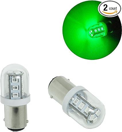 2x Bright Red 20 LED BA15D 1142 12v Light Bulbs