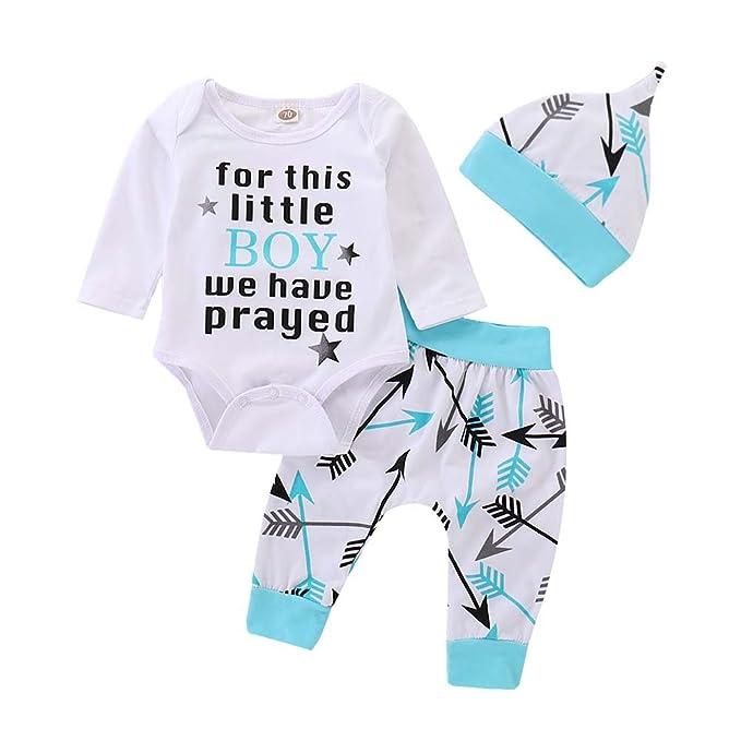 Amazon.com: baorong recién nacido niño ropa larga Sleever ...