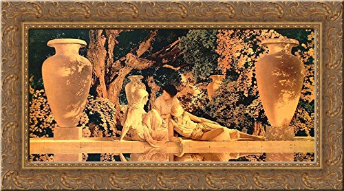 Garden of Allah 24x17 Gold Ornate Wood Framed Canvas Art by Parrish, Maxfield - Maxfield Parrish Garden