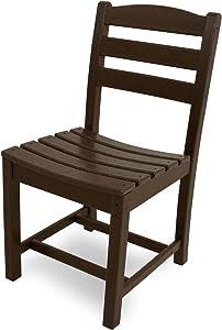 POLYWOOD TD100MA La Casa Café Dining Side Chair, Mahogany