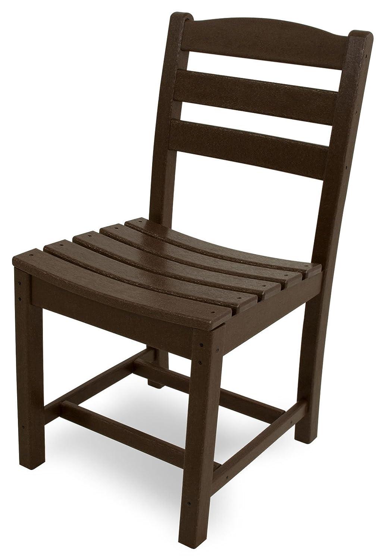 POLYWOOD TD100MA La Casa Caf Dining Side Chair, Mahogany