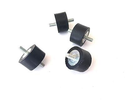 "1//2/"" /& 3//4/"" STUDS 4 Rubber Vibration Isolator Mounts 1//4-20 3//4/"" TALL X 1/"""