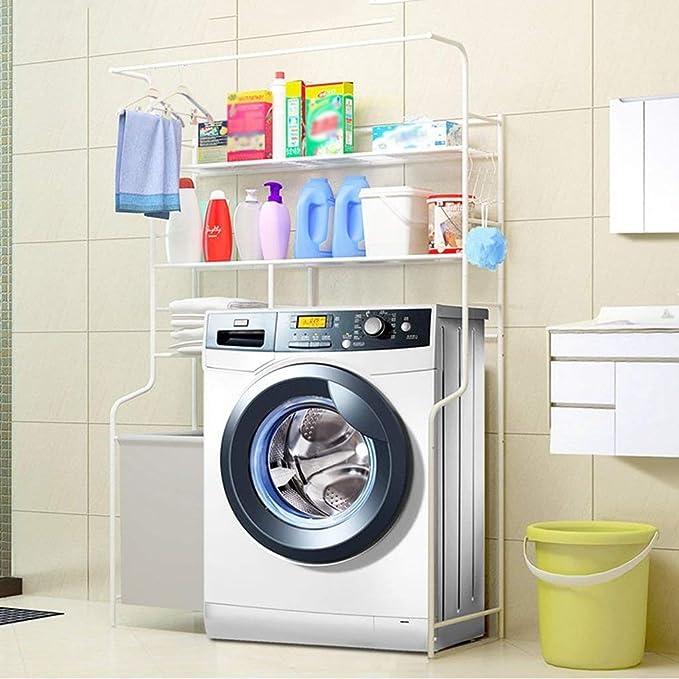 Estantería sobre la lavadora, sobre la lavadora y la secadora ...