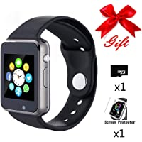 Bluetooth Smartwatch,Smart Watch Unlocked Watch Phone can Call and Text with Touchscreen Camera Notification Sync for Android and iOS Phone