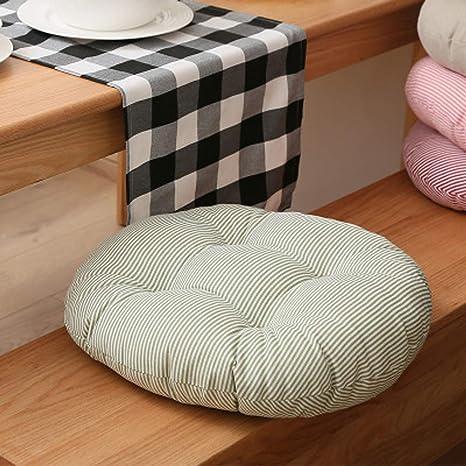 KongEU - Cojín redondo para silla de jardín (12 cm de grosor ...