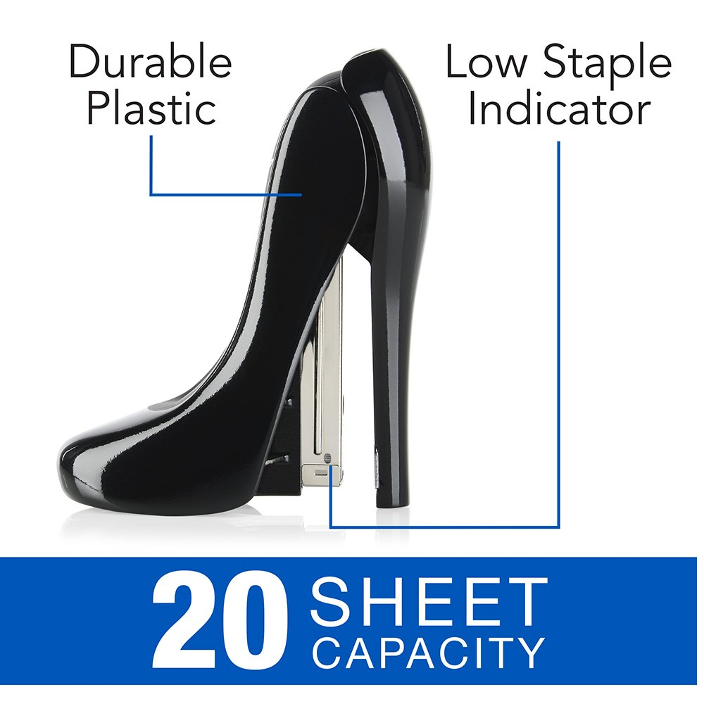 Amazon.com : Swingline High Heel Stapler, 20 Sheet Capcity, Plastic ...