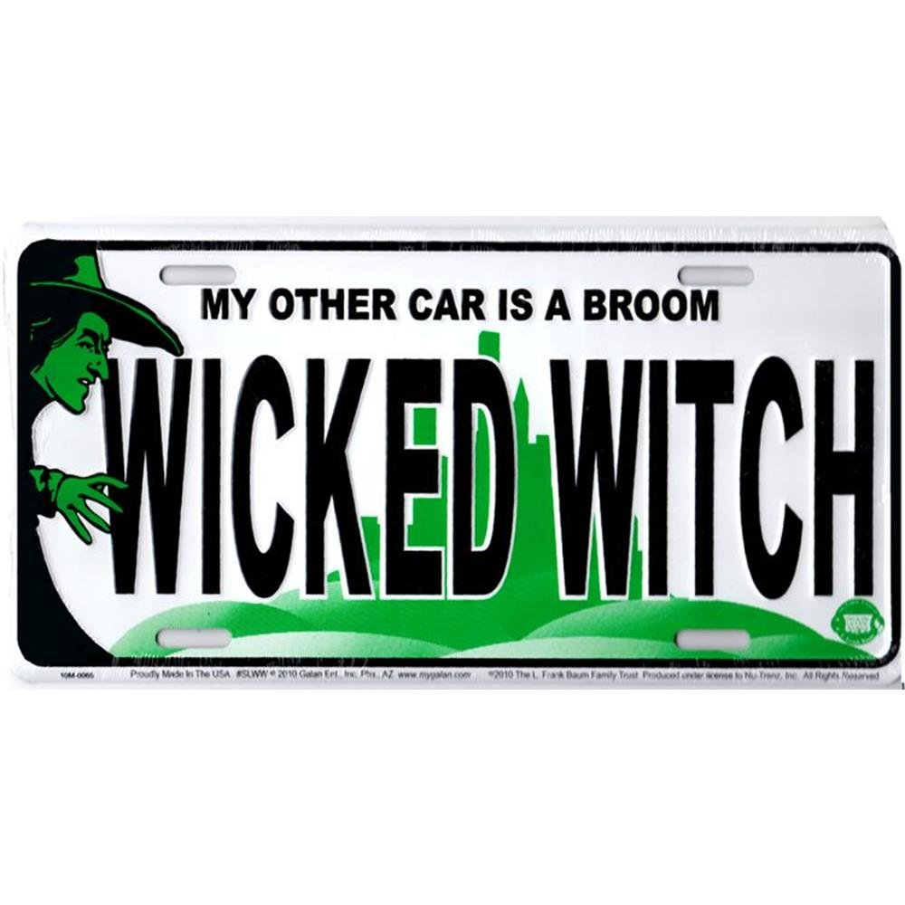 License Plate Signs 4 Fun SLWW Wicked Witch