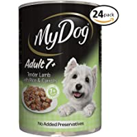 MY DOG Adult 7+ Tender Lamb Wet Dog Food 400g Can 24 Pack