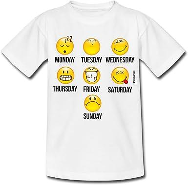 Smiley World Jours De La Semaine T Shirt Ado