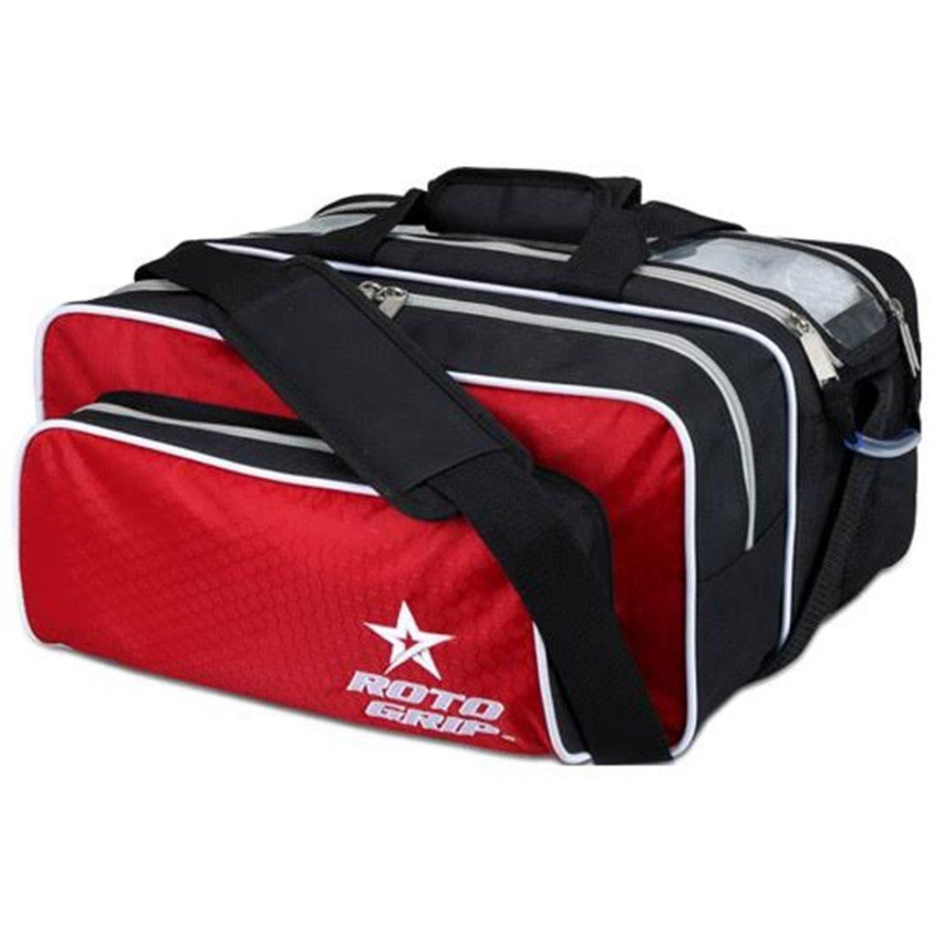 Roto-Grip 2 Ball Tote Plus Bowling Bag- Black/Red