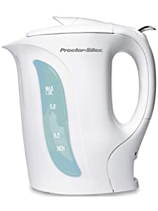 Proctor Silex K2070YA Electric Coutner-Top Automatic Kettle, 1-Liter