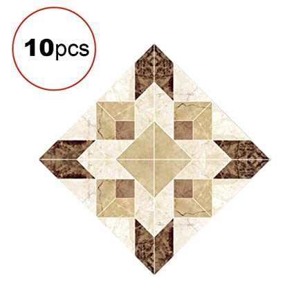 Ouken 10 Pcs Set Tile Stickers Art Decorative Ceramic Tile Stickers