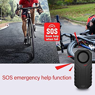 Remote Wireless Anti-Theft Vibration Motorcycle Bike Security Alarm Loud 113dB