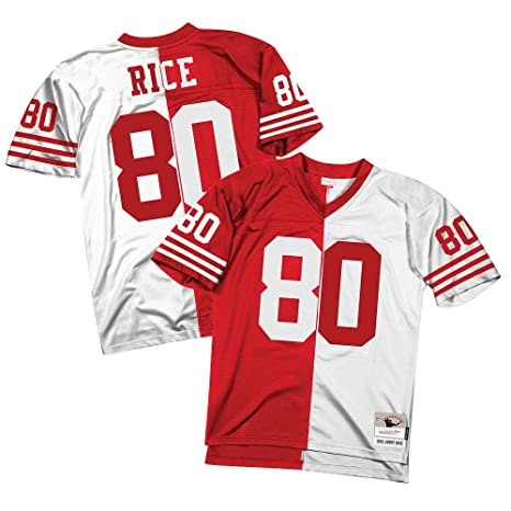 398de9af1 Image Unavailable. Image not available for. Color  Mitchell   Ness Jerry  Rice 1990 San Francisco 49ers NFL Men Split Legacy Jersey
