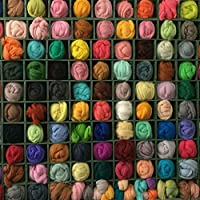 QICI Set of 36 Colors, Wool Roving Fibre Wool Yarn Roving For Needle Felting Hand Spinning DIY