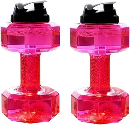 LOVIVER 2 Piezas Botella De Agua con Forma De Mancuerna ...