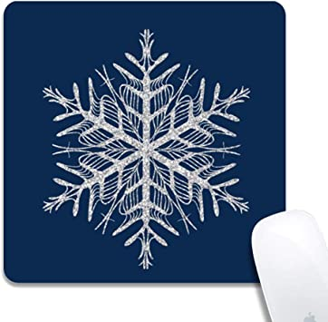 Non-Slip Rectangle Mousepad Stars,Big Star Icon Universe 7x8.6 inch for Computer