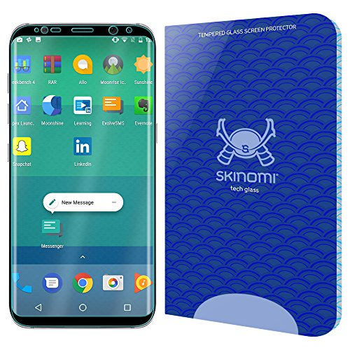 Galaxy S8 Plus Screen Protector (S8+)(Black), Skinomi Tech Glass Screen Protector for Galaxy S8 Plus Clear HD and 9H Hardness Ballistic Tempered Glass Shield