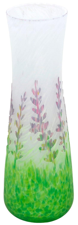 上越クリスタル硝子 花器 マルチ 本体サイズ:口径約7.4×高さ約21.5cm B0087KGOZA