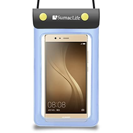 on sale 8ee06 983b8 Sumaclife Universal Durable Compact Waterproof Pouch Bag Carrying Case for  Huawei P9 / P9 Plus / Mate 8 / Nexus 6P / Honor 7 (Blue)