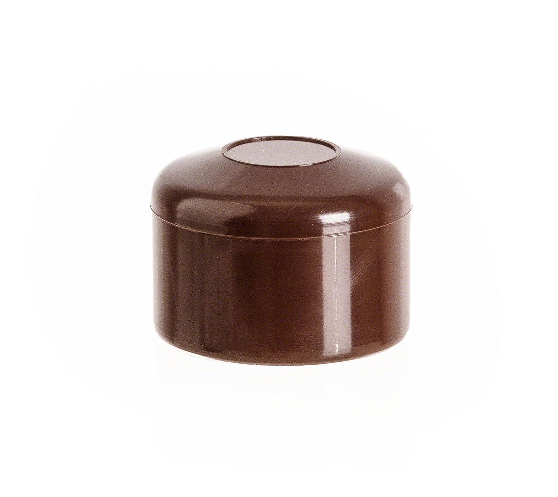 5 Stck capuchon pour poteau rond 42 vert Bouchons tube Embout cloture