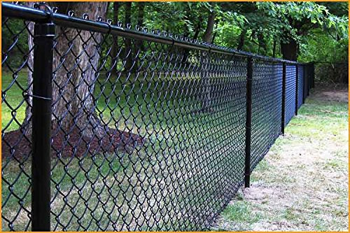 Black Vinyl Coated Chain Link (100' of 4' HIGH BLACK VINYL CHAIN LINK - POSTS, FITTINGS AND WIRE 100 LINEAR FEET COMPLETE)