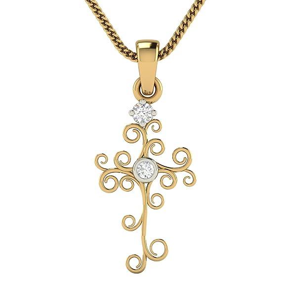Avsar 18KT Yellow Gold and Diamond Pendant for Women Pendants