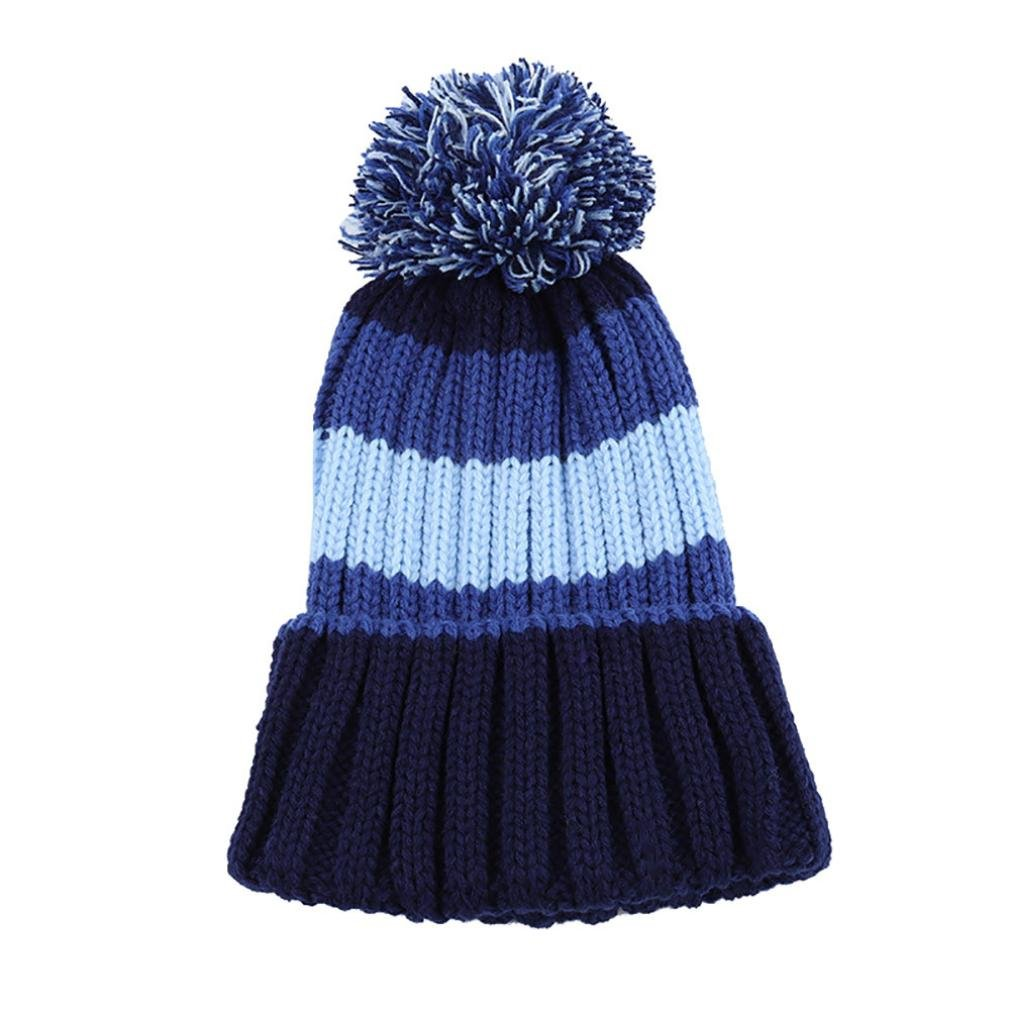 Inkach Cute Toddler Baby Girls Casual Ball Hats Winter Warm Caps Winter Knitted Hats