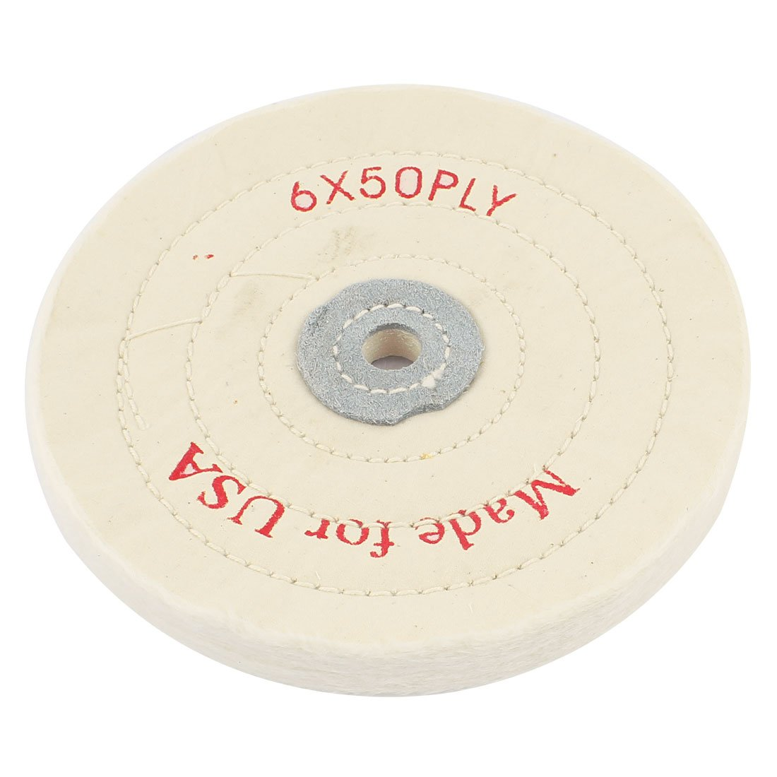 Round Polish Buffing Wheel Cotton Pad 1/2 Inch x 6 Inch 50 Ply White Sourcingmap a14103000ux0093