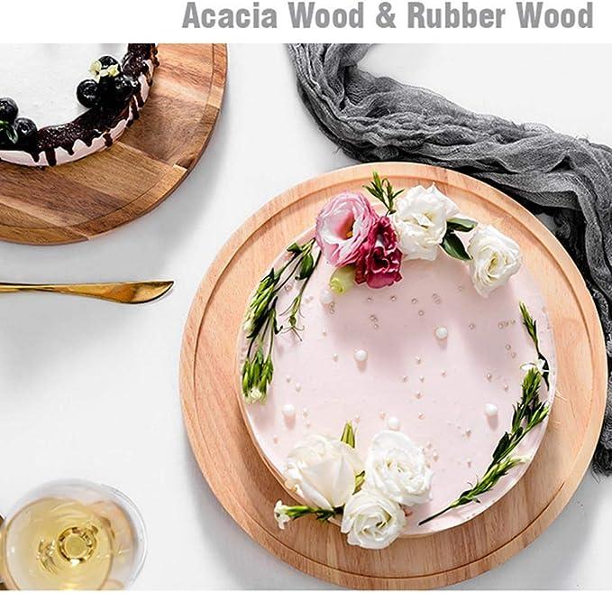 Cuttey - Plato para tartas giratorio de madera con tapa de ...