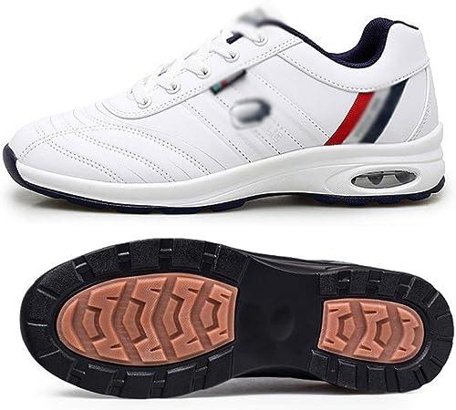 ZYQZYQ Zapatillas De Golf Impermeables para Hombres Zapatillas Deportivas Negras Y Blancas para Zapatillas De Deporte Sin Clavos Zapatillas Antideslizantes para Hombres,J-8.5: Amazon.es: Hogar