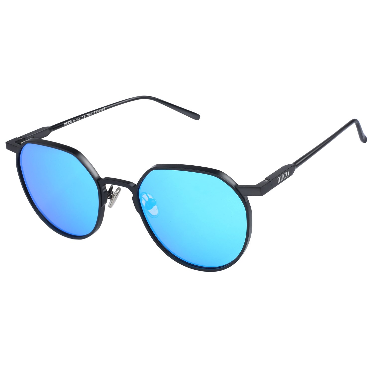 DUCO Unisex Fashion Polarized Sungalsses for Men Women with Metal Frame UV 400 Protection 8120 by Duco
