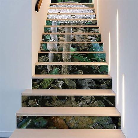 FWSY A Prueba de Humedad antiestático 3D Auto-Adhesivos Pegatinas de Escalera, Pared Pintura Vinilo Escalera calcomanía Decoración 39 Pulgadas x7 Pulgadas X 13 Piezas: Amazon.es: Deportes y aire libre