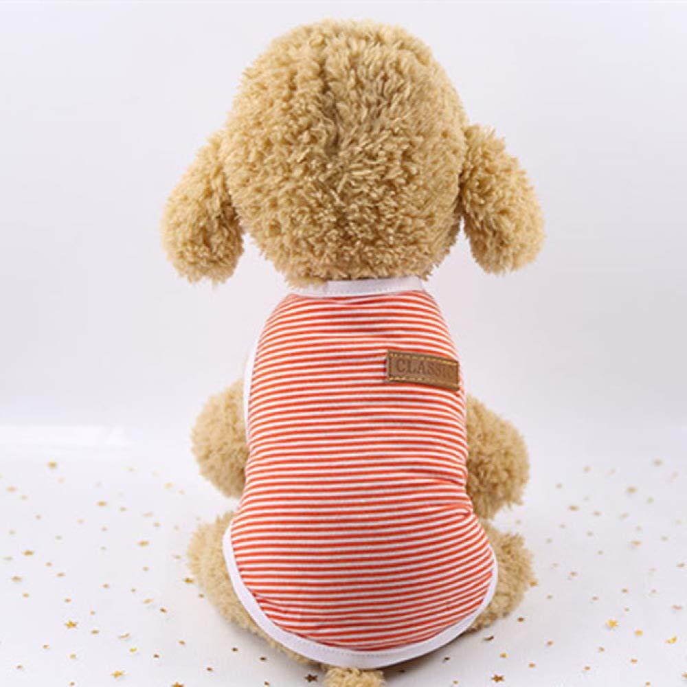 Ropa para perros para perros peque/ños Chaleco suave para cachorros de verano Ropa para Chihuahua Camisa de Yorkshire Camiseta para mascotas a rayas Disfraz de gato 1b0-in Abrigos y chaquetas para pe