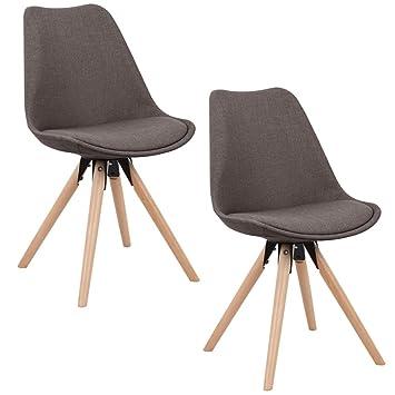MCTECH® 2x Stuhl Esszimmerstühle Esszimmerstuhl Stuhlgruppe Konferenzstuhl  Küchenstuhl Armlehne Büro Mit Massivholz Eiche Bein (