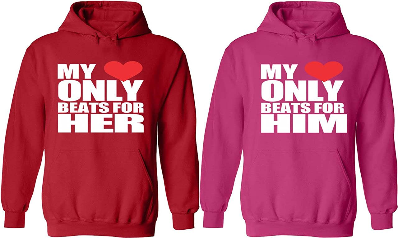 Amazon.com: My Heart Only Beats For Him U0026 Her   Matching Couple Hoodies    His And Her Love Sweaters: Clothing