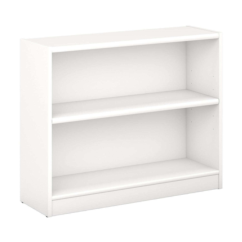 Bush Furniture Universal 2 Shelf Bookcase in Pure White