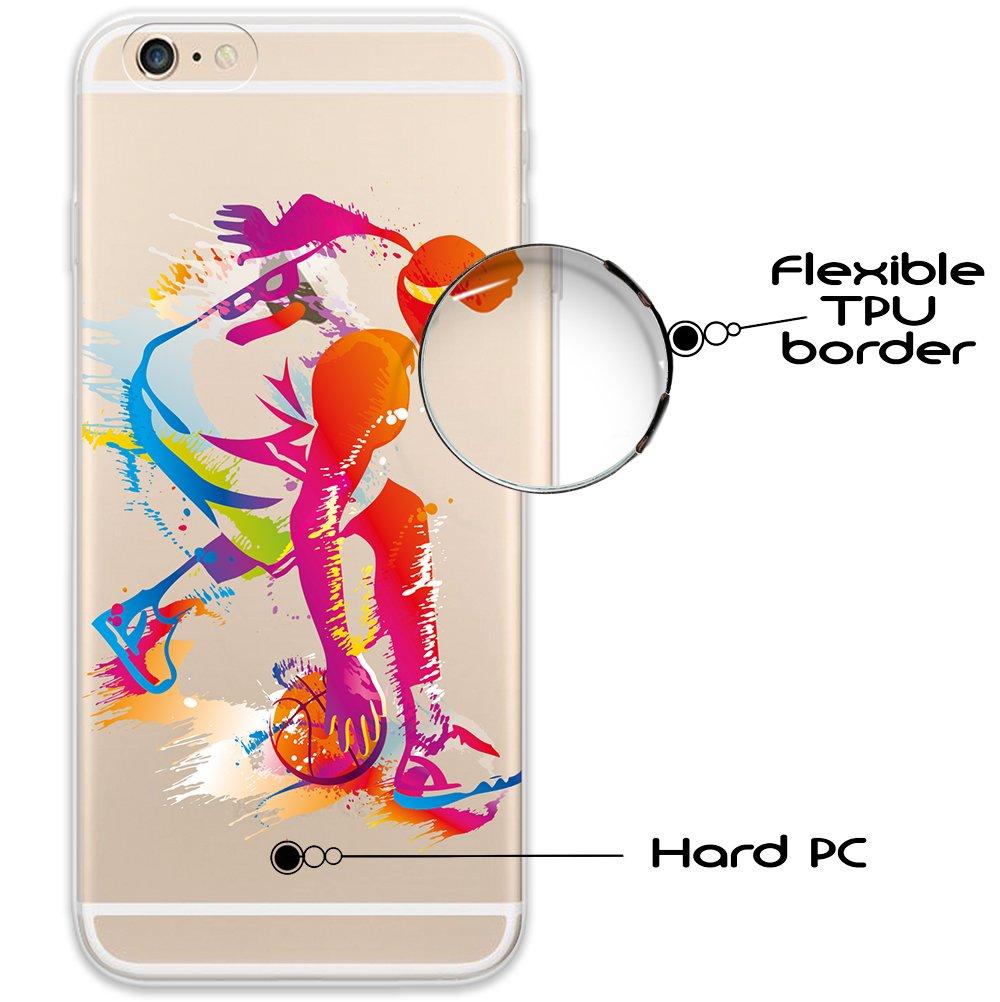 WoowCase Funda iPhone 6 6S, [Hybrid ] Jugador de Baloncesto 2 Case ...