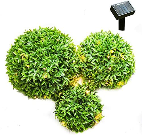 BS Home Office Decor Artificial Fake Grass Ball Plastic Plant Hanging
