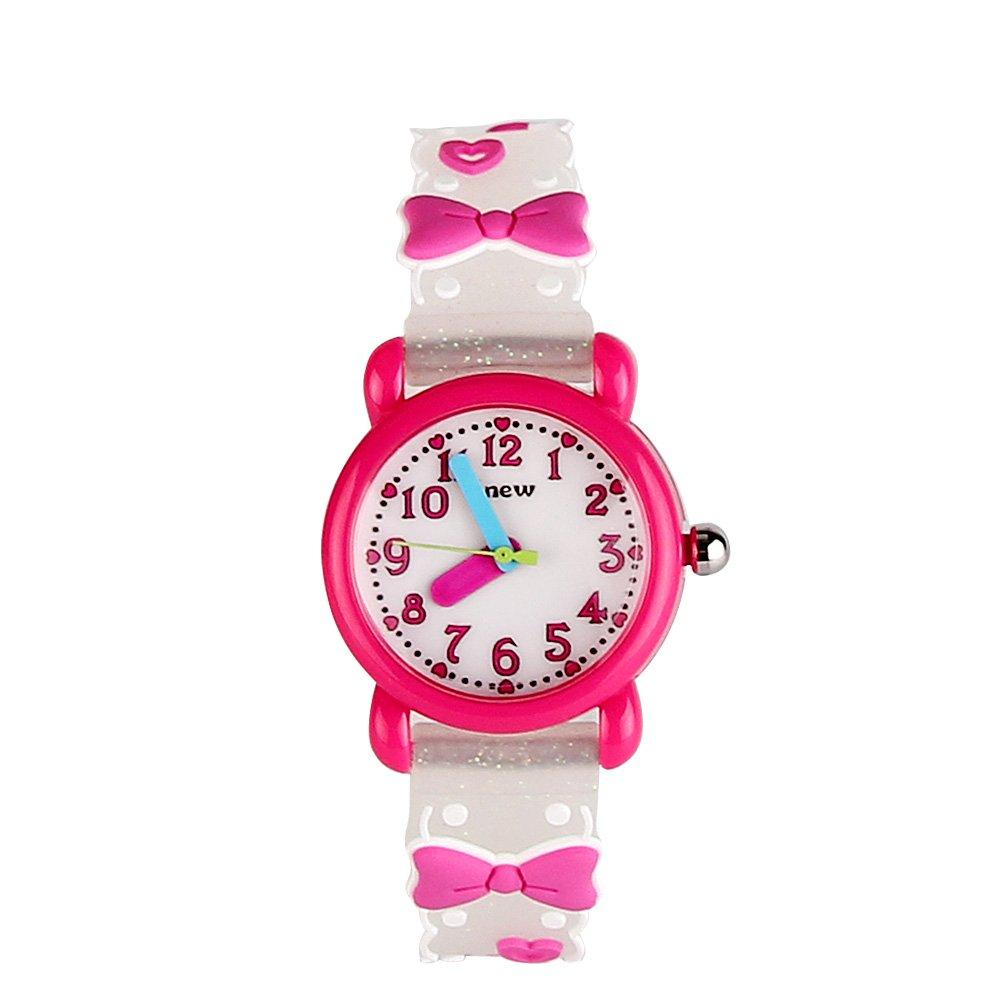 Eleoption 3d Cute Cartoonクオーツ腕時計Watch withシリコンバンド時間先生for Little Girlsボーイズキッズ子供ギフト ZBowknot-2 B0785JZ45J ZBowknot-2 ZBowknot-2