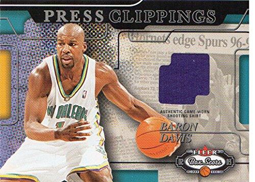 2002-03 Fleer Box Score Press Clippings Memorabilia #PCM7 Baron Davis Shirt - - Shirt Baron