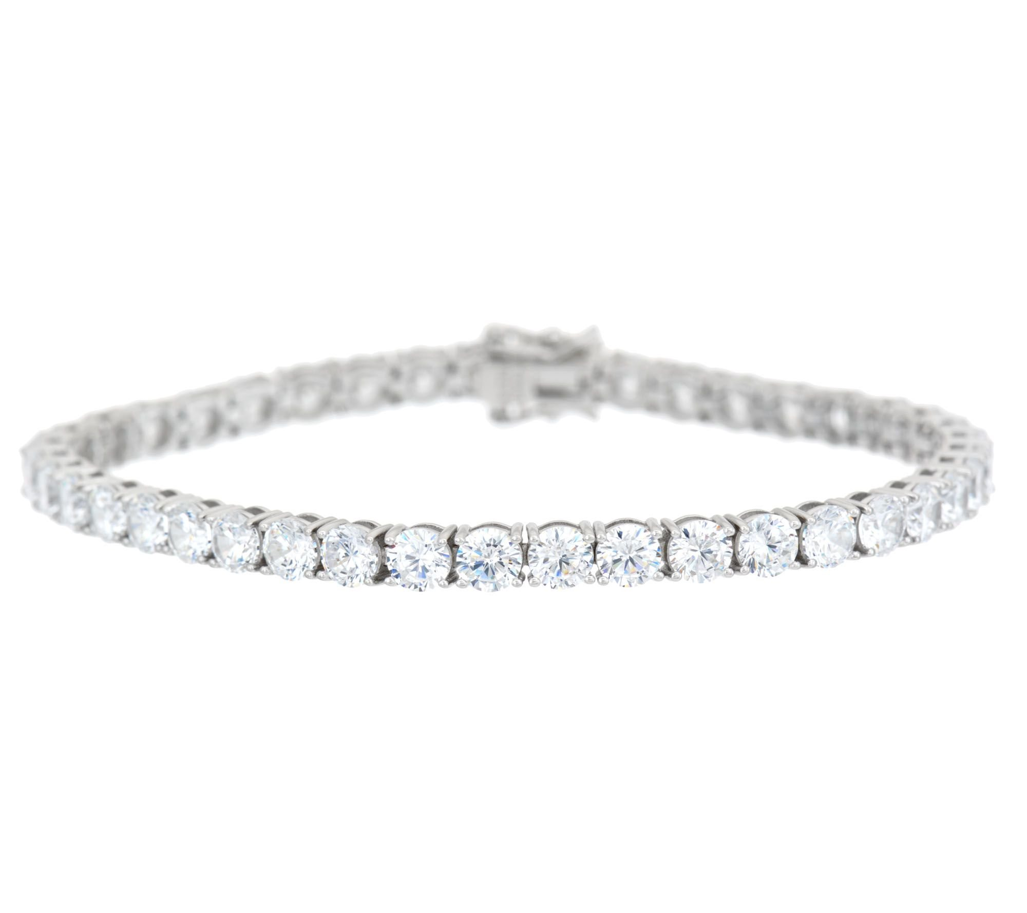 Smjewels Round Cut D/VVS1 Diamond Tennis Bracelet In 14K White Gold Plated Sterling by Smjewels