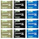 Squarebar Organic Protein Bar Variety 1.7oz (Pack of 12)