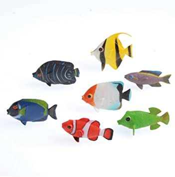 amazon us toy assorted color and design tropical fish figure play