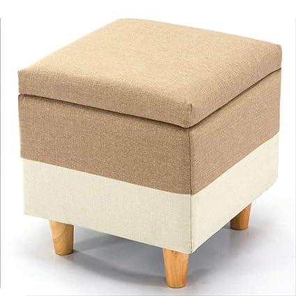 Amazon.com: RKY Solid Wood Cloth Storage Stool Shoe Bench ...