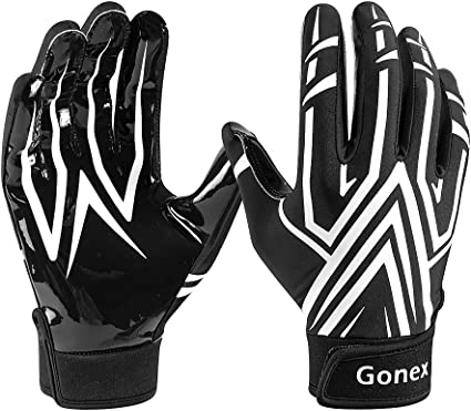 Gonex American Football Gloves Receiver Gloves for Rugby Game Youth Adult Mens