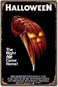 TGDB Halloween 1978 Horror Film Movie Vintage Retro Tin Sign Size 8x12 inch